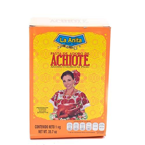 Achiote (Roucou) La Anita Épice Colorante pour Cochinita Pibil Cuisine mexicaine Épice pour Viande 1 kg Cuisine Mexicaine