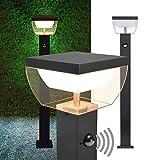 LED Aussen Standleuchten mit Bewegungsmelder MA-310SERIE SET (Standleuchte mit Sensor)