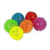 Pack de 6 bolasluminosas elásticas, con Sonido, para Perro, 6,35 cm