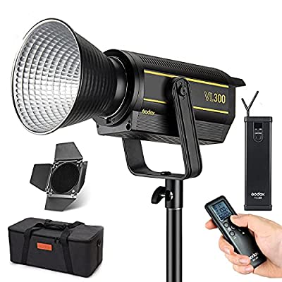 Amazon - 5% Off on  VL300 LED Video Light, with BD-04 Barndoor Kit, 77000Lux@1m, 300W