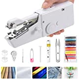 Handheld Sewing Machine, Portable Mini Small Suitable for Home Travel, Clothes, Cloth, Curtain, Pet Clothes Quick Handy Stitch for Home or Travel Use