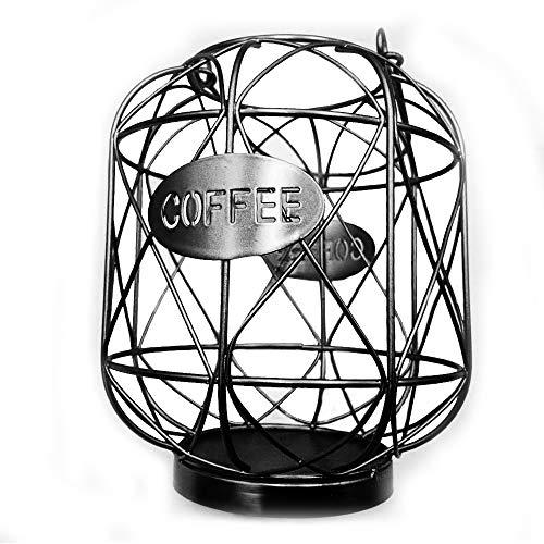 ATNR Soporte para cápsulas de café y organizador de taza con forma de K, cesta de almacenamiento de café de gran capacidad, organizador de cápsulas de café para contador de café