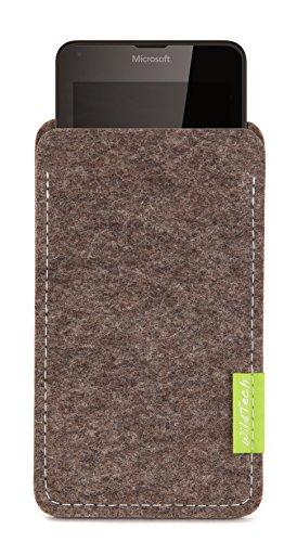 WildTech Sleeve für Microsoft Lumia 640 XL Dual SIM Hülle Tasche - 17 Farben (Made in Germany) - Natur-Meliert