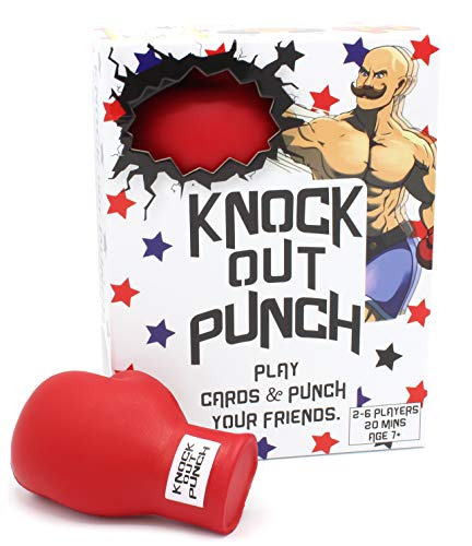 Knockout Punch - an Outrageous Boxing/Dodgeball Card Game - Funny Board Games for Family Night, Game Night Games for Groups & Party Games - Teen Outdoor Board Games, Boxing Games Kids Throwing Games