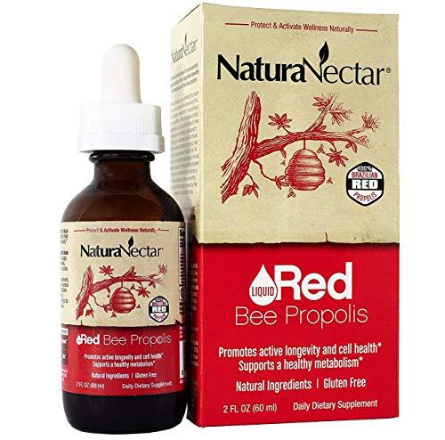 NaturaNectar Liquid Red Bee Propolis Drops – Natural Antioxidant Supplement, Healthy Inflammation Response & Immune Support – Premium Brazilian Propolis Flavonoids, Turmeric Alternative