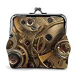 FENGJUAN Fresco steampunk engranajes impreso hebilla monedero pequeño bloqueo cambio bolsa de viaje maquillaje ts para hombres mujeres
