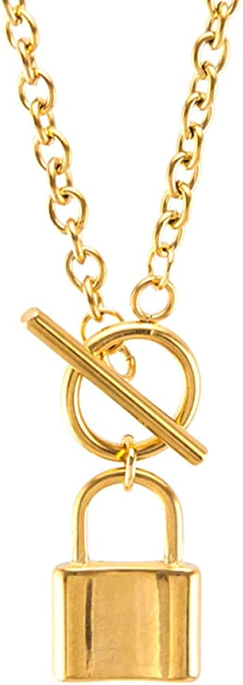 SWAOOS Coin Map Lock Heart Women Choker Saint Long Men Necklace Gold Color Toggle Necklace Collares De Moda Boho Collier Gift