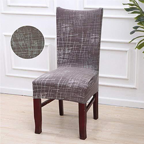 XCVB Krukhoes Keuken Stoelhoezen Stretch Bekleding housse de chaise Grijs Hoes stoel Handdoekstoel Kruk Cover stoelbekleding Eetkamer, kleur 16