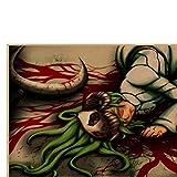 ZYAAO Póster de animación de Muerte Retro Kraft Dormitorio decoración de Pared de habitación afiche Personalizado Pegatinas de Pared,42X30CM