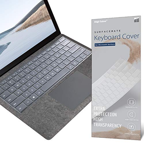 Digi-Tatoo SurfaceMate Keyboard Cover Protector Skin for Microsoft Surface Book 3/ Book 2/ Laptop 2 13.5''/15'' 2020/2017/2018 Release, Premium Ultra Thin 0.18mm, High Transparency, US Keyboard Layout