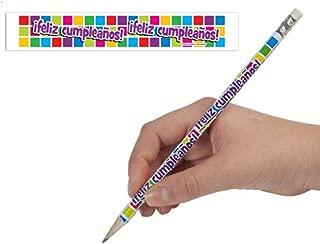 Spanish Happy Birthday! Pencils Box of 144 Pencils (2013)
