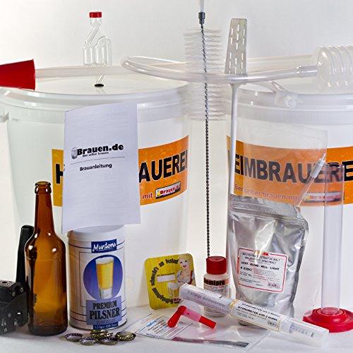 Set completo per fabbricare birra attrezzature per bierkit Brauer fino a 23litri di birra sopracciglia