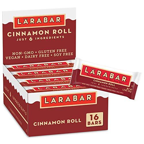 Larabar Fruit and Nut Bar, Cinnamon Roll, Gluten Free, Vegan, 16 ct, 25.6 oz