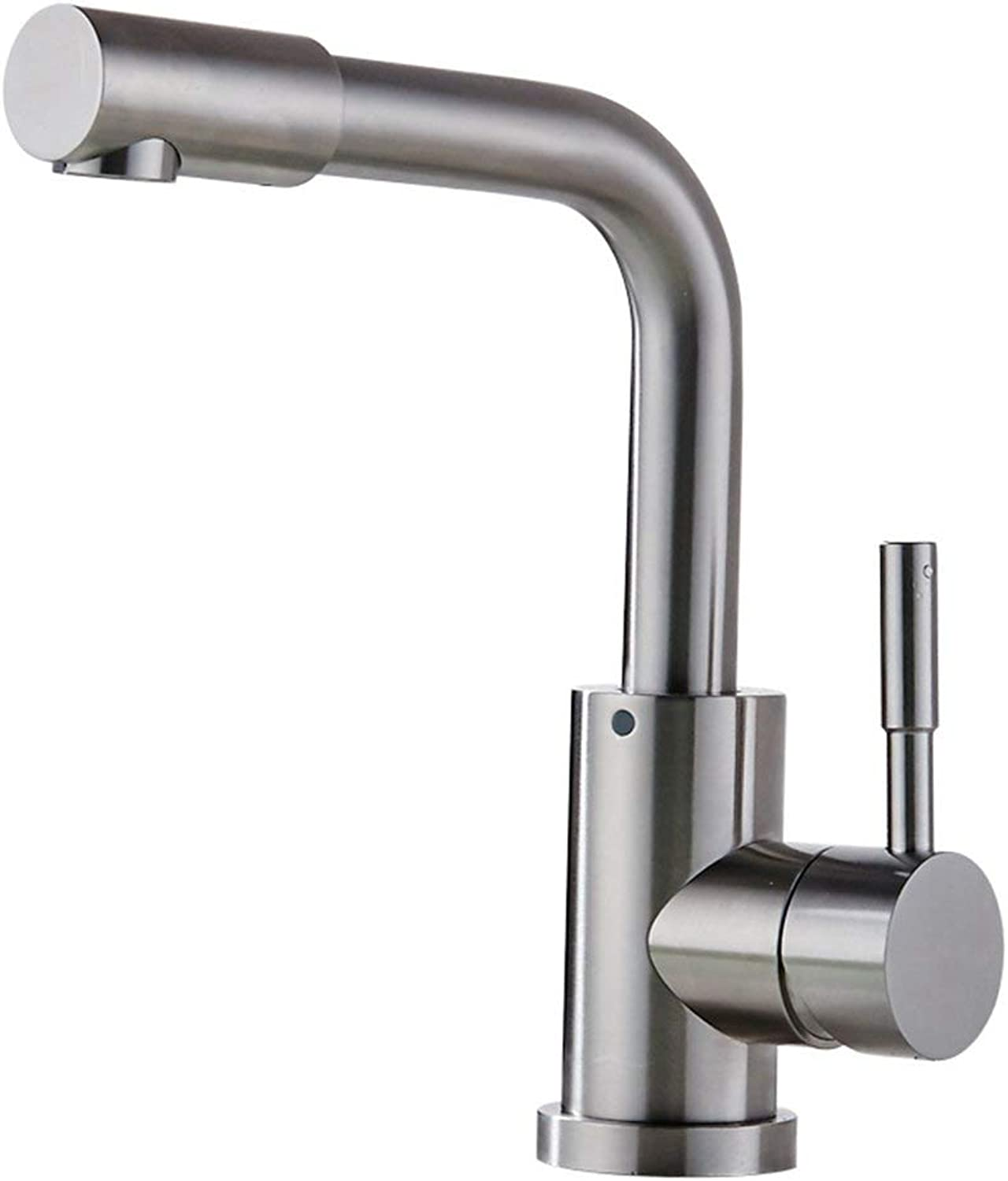 DYR Faucet Tap 304 Stainless Steel Single Hole Hot and Cold Turn the Tap (color  A)
