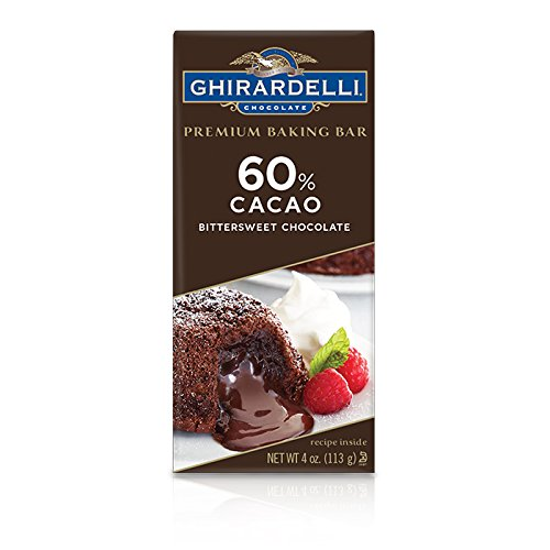 Ghirardelli Premium Baking Bar, 60% Cacao Bittersweet Chocolate, 4 oz