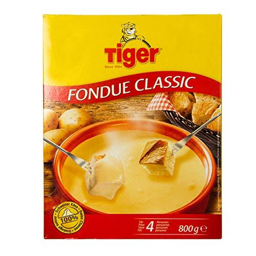 Food-United Fondue Classic 800g Käse-Fondue aus Schweizer Käse zubereitugsfertig für Fondue-Topf oder Caquelon cremig fein-herb zart-schmelzend