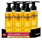 Syoss - Tratamiento Beauty Elixir Oil para Todo Tipo de Cabellos, Nutrición Intensa y Brillo, Cabello Como Recién Salido de la Peluquería, 6 Unidades de 100ml
