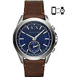 Armani Exchange Homme Analogique Quartz Montre avec Bracelet en Cuir AXT1010