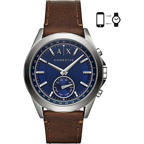 Armani Exchange Reloj Analogico para Hombre de Cuarzo con Correa en Cuero AXT1010
