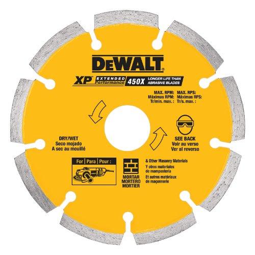 DEWALT DW4710 4-Inch Tuck Point Diamond Saw Blade with 5/8-Inch or 7/8-Inch Arbor