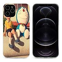 Tesany ドラえもん ドラえもん 映画 ウエハース iphone12 ケース iphone12 iphone12 mini 透明な携帯カバー 滑り防止 軽量 ワイヤレス充電対応 指紋防止 薄型 ケース