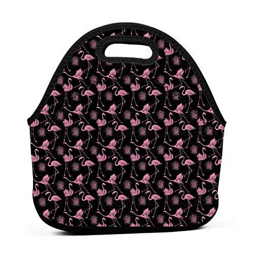 MrRui Lunchtasche mit Fly Flamingo Feather, Wasserdicht, isoliert, Bento-Beutel,wiederverwendbar, für Schule, Büro, Picknick, Lunchbox für Damen, Herren, Studenten, Arbeiter