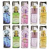 SEPILO PROFUMO - Mechero perfumado con aroma a llama suave en prácticamente elegante diseño para mujer, 10 mecheros (2 de todos los colores).