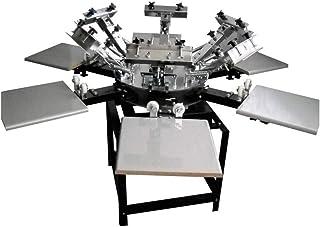 Grupo K-2 Máquina Serigrafía Pulpo 6 Brazos 6 Estaciones Microregistro