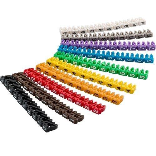 Marcador cables 6.0 mm (100 ud/bolsa), Cablepelado