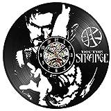 CHANGWW DocteurDisque Vinyle Horloge MuraleMarvel Thème 3D Décoration Suspendu Montre Vintage Vinyle Horloges...