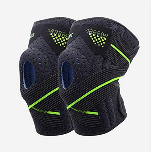 ZEIYUQI Knee Brace Support Compression Knee Sleeve with Side Stabilizers Non-Slip Knee Stability Breathable Knee Pads for Mountaineering Running,Basketball,Black-D