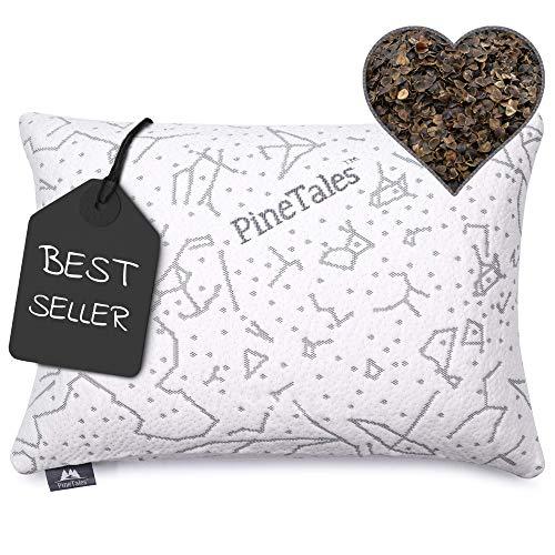 "PineTales Japanese Size 14"" x 20"", PREMIUM Organic Buckwheat Pillow   Sobakawa Pillow - Made in USA"