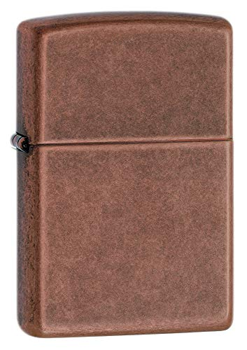 Zippo Antico Copper, Accendino Antivento, Ricaricabile A Benzina Unisex-Adulto, Antique Coppper, Regular 5.7 x 3.7 x 1.2 cm