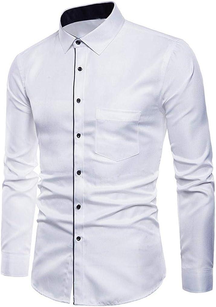 Camisas Casual Hombre Manga Larga, Covermason Hombres Oxford ...