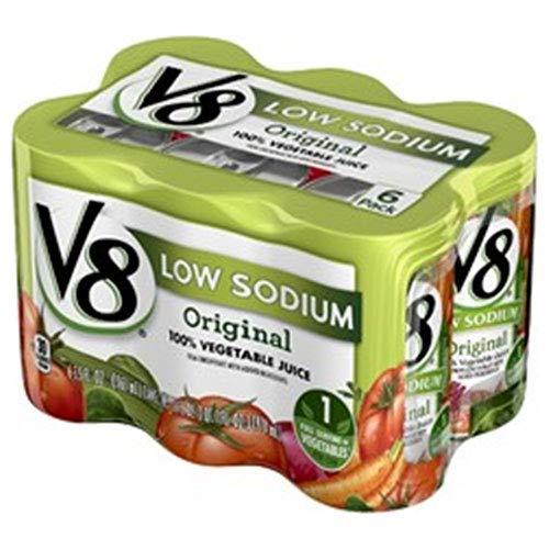 キャンベル V8野菜ジュース 低塩(6缶パック) 163ml缶×24(6×4)本入×(2ケース)