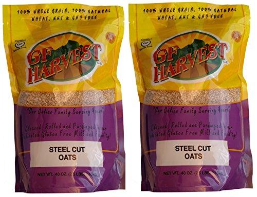 GF Harvest Gluten Free Whole Grain Steel Cut Oats, 2 Count