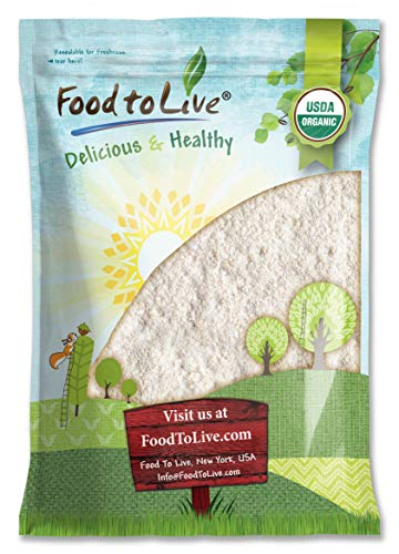 Organic Oat Flour, 8 Pounds - Non-GMO, Fine, Stone Ground from Whole Grain Oat Berries, Kosher, Vegan, Bulk, Great for Baking Pancakes, Muffins, Waffles and Bread, Good Source of Fiber