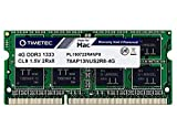 Timetec Hynix IC compatible with Apple 4GB DDR3 1333MHz PC3-10600 SODIMM Memory Upgrade For Mac 4GB