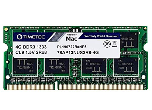 Timetec Hynix IC Compatible with Apple 4GB DDR3 1333MHz PC3-10600 SODIMM Memory Upgrade For Selected MacBook Pro/iMac/Mac Mini