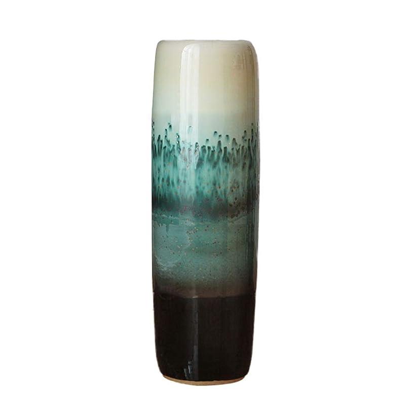 優先アルネ苦行床花瓶地中海スタイルセラミックカラー釉薬ホームリビングルームの装飾装飾大 HUXIUPING (Size : 95cm)