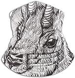 NA Little Goat Elastic Neck Warmer Gaiter Windproof Ski Mask Tube Motorcycle Half Face Mask Winter Outdoor Ear Warmers Headband