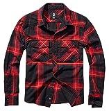 Brandit Camisa de franela para hombre rojo oscuro. XXXXXXXL