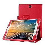 Tasche für Samsung Galaxy Tab A SM-T550 T551 T555 9.7 Zoll Schutz Hülle Flip Tablet Cover Hülle (Rot) Neu