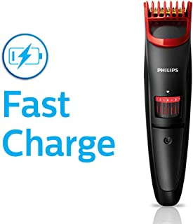 Philips QT4011/15 corded & cordless Titanium blade Beard Trimmer with Fast charge, 20 length settings