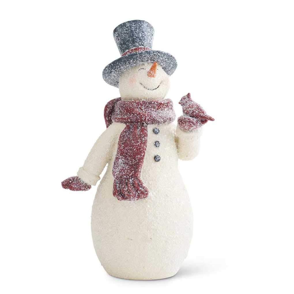 Image of Fresh Snowfall Snowman Figurine - See More