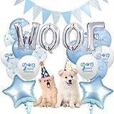 Legendog Hund Geburtstag Set, 25Pcs Hunde Geburtstag Deko, Happy Birthday Ballons, Set Geburtstag Dekoration Zubehör