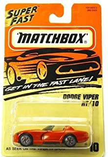 DODGE VIPER RT/10 (red) 1995-96 Matchbox #10 Super Fast series 1:64 scale (2.5 inches) vehicle (ORIGINAL, VINTAGE)