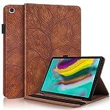 KSHOP Compatible con Funda Samsung Galaxy Tab S5e 10.5 Inch 2019 T720/ T725 Carcasa con Auto-Sueño/Estela marrón