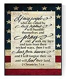 2 Chronicles 7:14 Art Poster | My People | Bible Verse Print (8x10)
