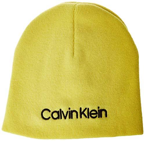 Calvin Klein Classic Beanie W Gorro de Punto, Verde (Green LF1), Talla...